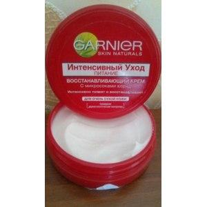 """Крем универсальный Garnier """"Интенсивный уход"""", питание, восстанавливающий с микросоками клена для очень сухой кожи фото"""