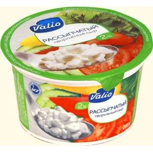 Сыр Valio Рассыпчатый творожный сыр 2% 1/200 фото