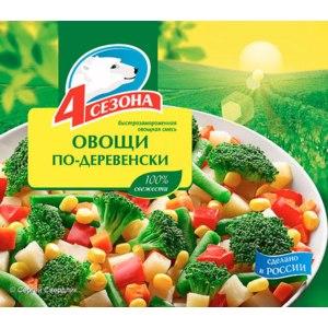 Овощные смеси 4 сезона Овощи по-деревенски 1/400 фото