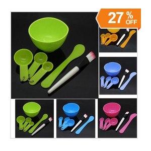 Набор для приготовления домашних масок Aliexpress 1PCS Homemade 6in1 Makeup Beauty DIY Facial Face Mask Bowl Brush Spoon Stick Tool Set фото
