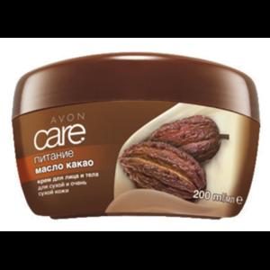 Avon CARE Крем для лица и тела. Питание. С маслом какао. Для сухой и очень сухой кожи. фото