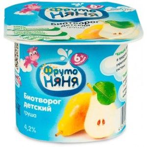 Детское питание Фруто Няня  Биотворог  Груша фото
