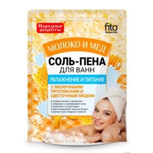 """Соль-пена для ванн ФИТОкосметик """"Молоко и мед"""" увлажнение и питание фото"""