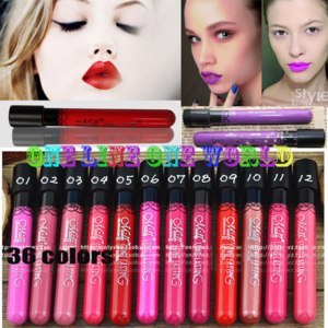 Губная помада Aliexpress Waterproof lipstick lip gloss 36 colors lipgloss velvet matte lipstick red color vitality cerise star фото