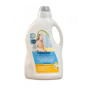 Жидкое средство для стирки Organic People BABY BUBBLE с органическими экстрактами ромашки и хлопка фото