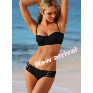 Купальник AliExpress New Fashion Sexy women bikini set VS Swimwear PUsh Up swimsuit beachwear black color фото