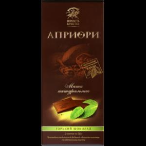 "Шоколад ""Априори"" горький  60% какао с мятой фото"