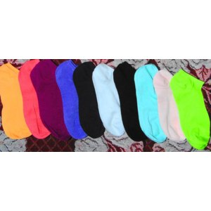 Носки AliExpress Free shipping 2013 women candy color cotton socks sports ankle socks 10pairs/lot send by random фото