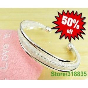 Браслет Aliexpress 925 Sterling Silver Bangle,Fashion Bangle/Cuff,Wholesale Fashion Jewelry фото