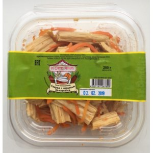Салат Кореяна охлаждённый Спаржа с морковью по-корейски фото