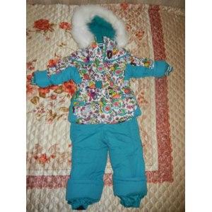 Верхняя одежда KIKO Зимний комплект для девочки комбинированный (бирюзовый) фото
