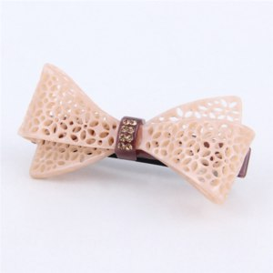 Заколка для волос Aliexpress 2017 New Fashion Women Hair Accessories Korean Middle Boutique Hair Clip Acetate Rhinestone Bow Gilrs Hair Barrette (JY810005) фото