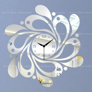 Часы настенные Aliexpress Decorative Mirror wall clock Drops - Home Decor фото