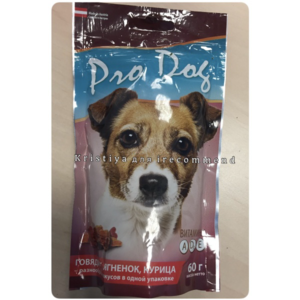 Лакомство для собак Pro Dog говядина, ягнёнок, курица фото
