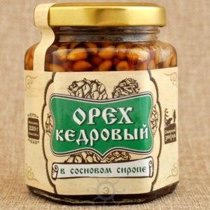 Продукты Солнечная Сибирь Орех кедровый в сосновом сиропе фото