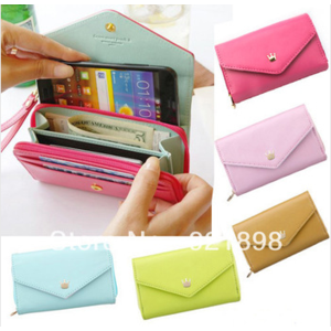 Кошелек Aliexpress Korean Lovely envelope Purse Wallet Case for Samsung Galaxy S3,S2,Iphone 5,4S/4  фото