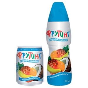Напиток сокосодержащий Фрутинг из натурального сока тропических фруктов фото