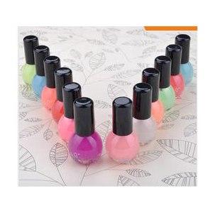 Лак для ногтей Aliexpress 8ml Neon Fluorescent Non-toxic Nail Polish Nail Varnish Lacquer Paint Nail Art for Lady Girl ZMPJ498D фото