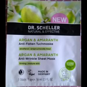 Тканевая маска для лица Dr. Scheller Разглаживающая, Аргана и Амарант фото