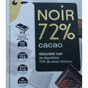 Горький шоколад Auchan  Noir 72% фото