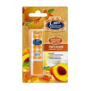 Бальзам для губ Сто рецептов красоты Питание с маслом персика фото