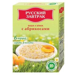 Каша Русский завтрак 4 злака с абрикосами фото