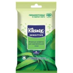 Влажные салфетки Kleenex SENSITIVE для чувствительной кожи фото