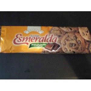 Печенье шоколадное Roshen Esmeralda с кусочками шоколада фото