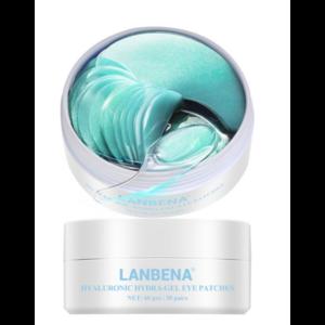 Гидрогелевые патчи для глаз  Lanbena Hyaluronic Hydra-Gel eye patches фото