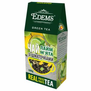 Чай зеленый Edems С кусочками цедры лайма и листочками мяты фото