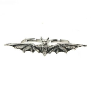 Кольцо Aliexpress Retro Punk Bat Rings Jewelry Double  фото