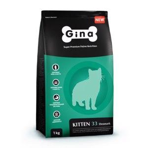 Корм для котят, беременных и кормящих кошек GINA Kitten-33 Denmark фото