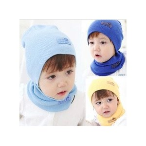 Шапка AliExpress Fashion Winter Cap Baby Girls/Boys Hat Warm Hat Children Hat and Scarf set фото