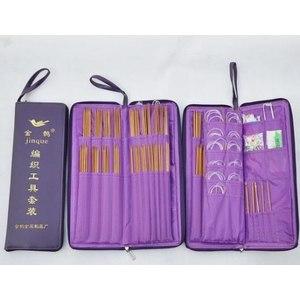 набор для вязания Aliexpress Ring Needle Crochet Hooks Bamboo