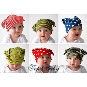 Головные уборы AliExpress Шапка детская 2012 TOP BABY HATS baby infant beanie cotton hat cap headwear new novity style 9 colors фото