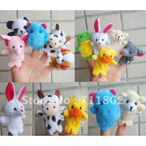 Aliexpress игрушки на пальчики free shipping Models Animal Finger Puppet finger puppet toy 10pcs/lot фото