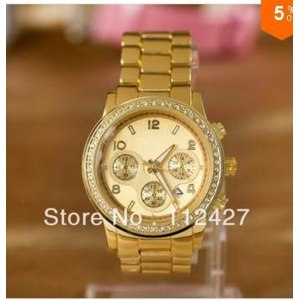 Часы Aliexpress Michael Kors Wholesale women watches fashion watches with diamond watch dial,Rose gold and yellow gold фото