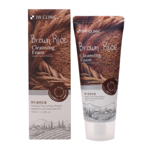 Пенка для умывания 3W CLINIC Brown rice cleansing foam фото