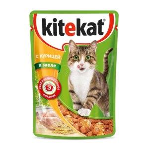 Корм для кошек Kitekat влажный корм с курицей в желе (пауч) фото