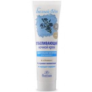Крем для лица Floresan Отбеливающий ночной обогащенный витамином С.  Белый лен фото