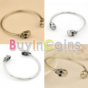 Браслет Buyincoins New Fashion Color Jewelry Metal Alloy Skull Bangle Retro Cool Cuff Bracelet фото