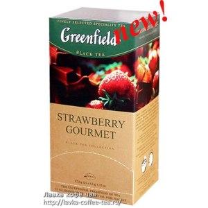 Чай  Гринфилд (Greenfield) Strawberry Gourmet черный в пакетиках фото
