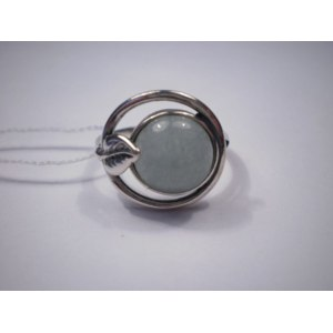 Кольцо Фабрика Приволжский Ювелир из серебра 925 пробы 243589 вес 3,50 нефрит фото
