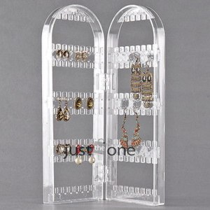 Подставка для бижутерии Aliexpress   120 Holes 2 Aches Clear Plastic Folded Studs Earrings Display Frame Holder Shelf Rack Stand for jewelry фото