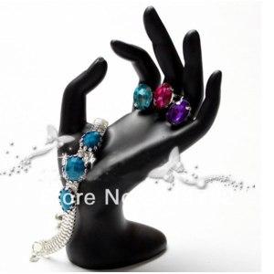 Подставка для бижутерии Aliexpress    Showcase Mannequin OK Hand Ring Display Jewelry Window Show Holder Stand high quality фото