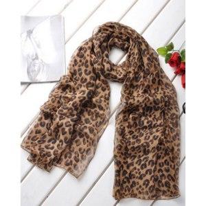 Шарф Aliexpress Шарфик Sexy Hot Sale Fashion New Women Long Style Wrap Shawl Leopard Chiffon Scarf Scarves Stole Free Shipping фото