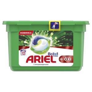 Капсулы для стирки Ariel PODs Всё в 1 + Extra OXI Effect фото
