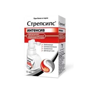 Лекарственный препарат  Strepsils INTENSIVE Спрей  фото
