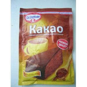 Какао DR.OETKER порошок для приготовления напитков и выпечки фото