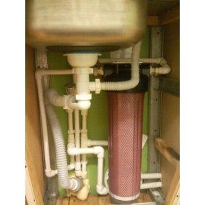 Проточный фильтр для воды Гейзер с картриджем АРАГОН 3 от магистрального фильтра Тайфун  (20BB) фото